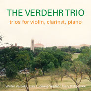 CD cover The Verdehr Trio,