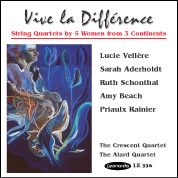 String quartets by women CD cover